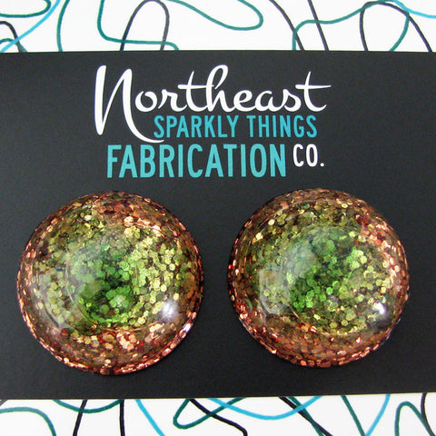 WELLFLEET DUNES - half globe earrings