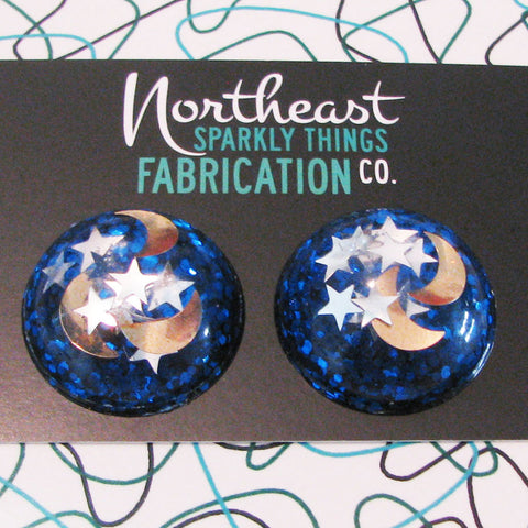 NORTHEAST MIDNIGHT - half globe earrings