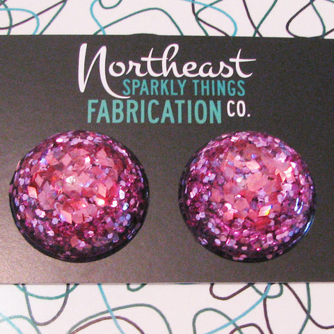 PINK LEMONADE - half globe earrings