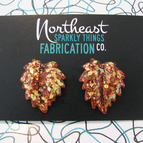 VERMONT MAPLE SYRUP - leaf earrings