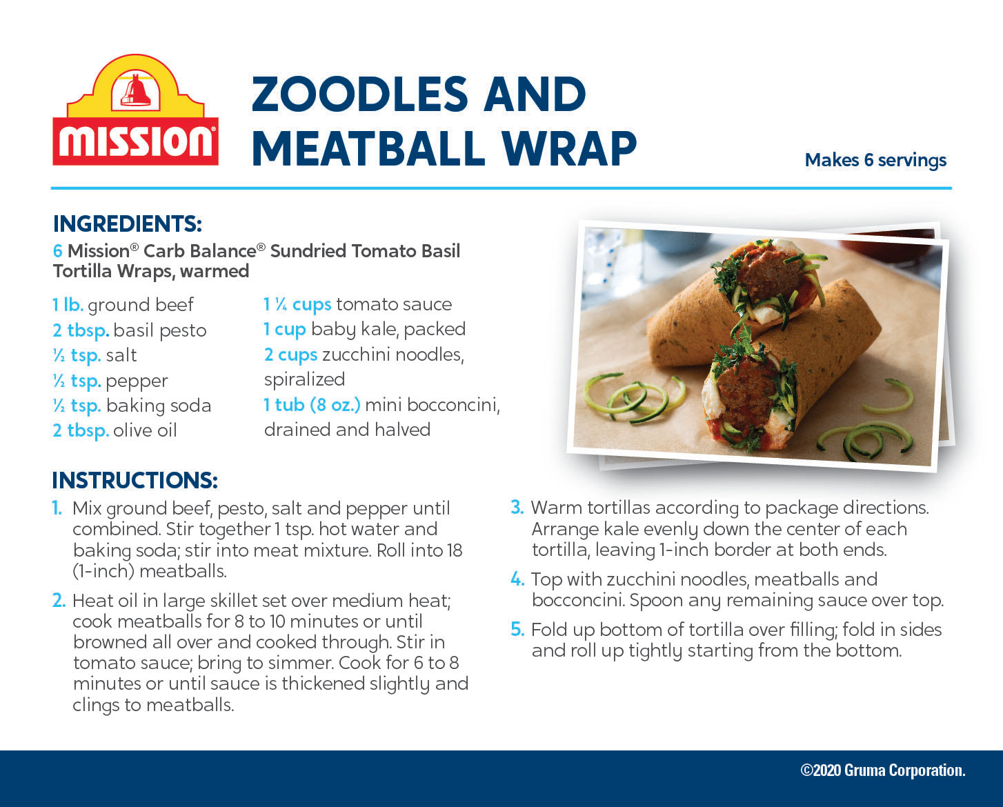 Sundried Tomato Basil: Meatballs and Zoodle recipe