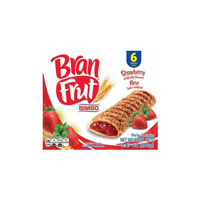 Bimbo Bran Frut Snack Bars Pineapple or Strawberry Image
