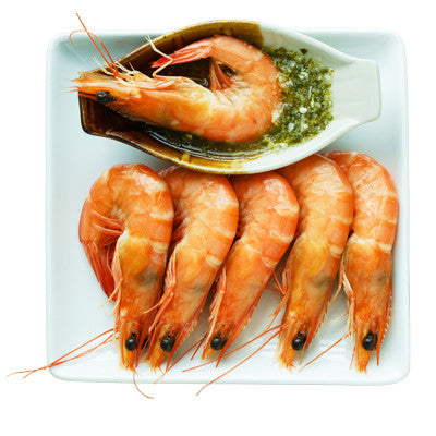 Raw Head on Medium Shrimp 50 - 60 ct. Image