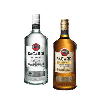 Bacardi Silver or Gold Rum 1.75 Ltr.  Must Buy 2 Image