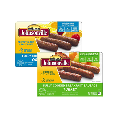 Johnsonville Fully Cooked Breakfast Sausage Meat or Turkey Image