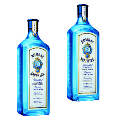 Bombay Sapphire Dry Gin, 1.75 Ltr. Must Buy 2 Image