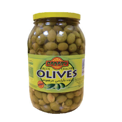 Canary Green Cracked Olives Image