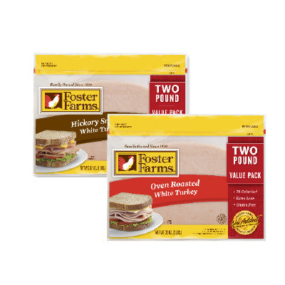 Foster Farms Oven Roasted or Hickory Smoked Sliced Turkey Breast Image