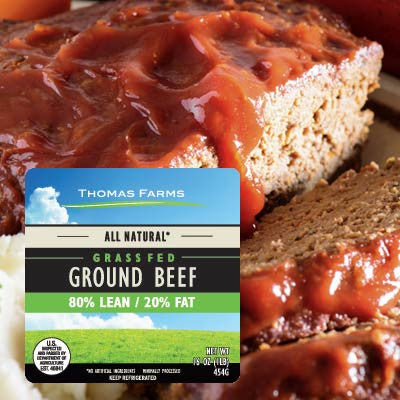 All Natural Grass Fed Fresh Ground Beef 80% Lean Image