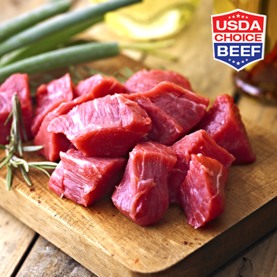 Fresh Beef Stew Meat, U.S.D.A CHOICE Image