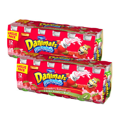 Dannon Danimals Yogurt Smoothie 12 Pk. Image