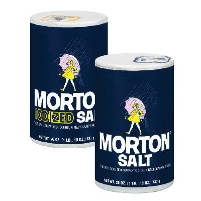 Morton Salt Plain or Iodized, Limit 6 Image