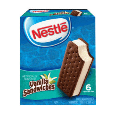 Nestle Ice Cream Bars or Sandwich Novelties 6-12 ct Image