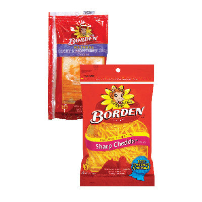 Borden Naturals Shredded or Sliced Cheese Image