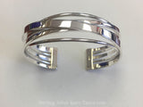 Sterling Silver Overlapping Band Cuff Bracelet