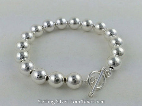 10mm Beaded Bracelet w/Toggle