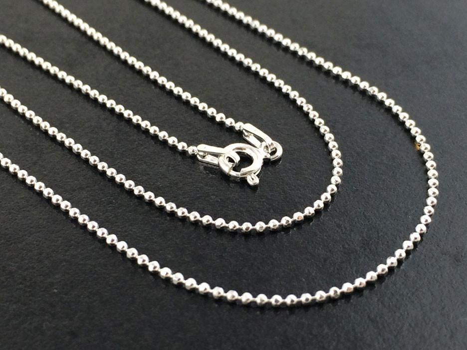 Sterling Silver Bolitas Faceted Chain