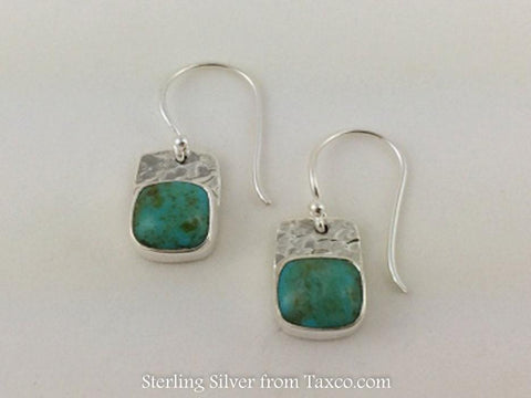 "2 1/4"" Flattened Hammered Sterling Silver Stirrup Earring"