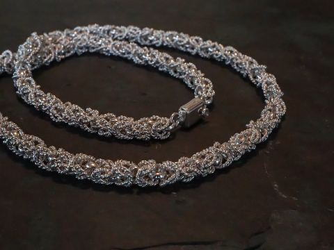 3-Strand Faceted Necklace w/ Center Beads