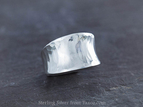 Hammered Sterling Silver Inverted Ring