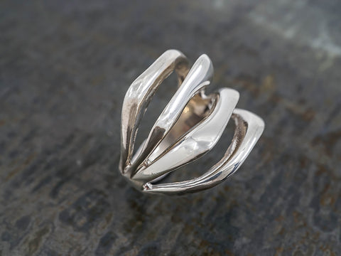 Hammered Inverted Ring