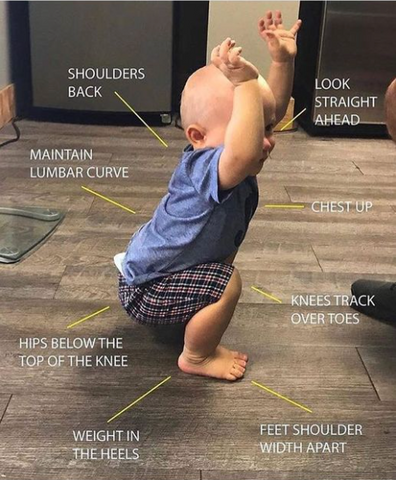 Squat like a baby: become more flexible without stretching