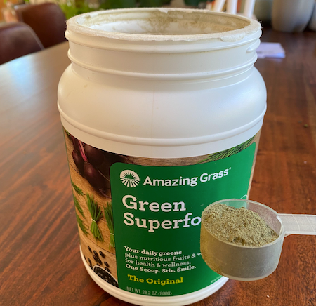 Greens powder for injury recovery