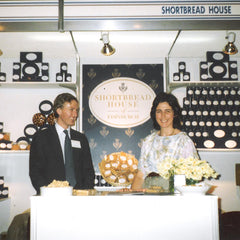 Anthony and Fiona Laing presenting the Shortbread House of Edinburgh