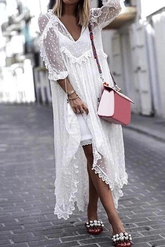 What to wear under a white transparent dress
