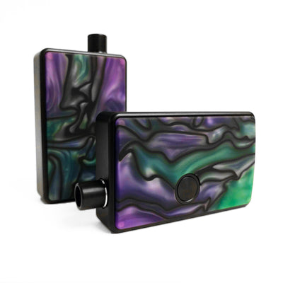 SXK - SXK Billet Box V4 Resin Swirl Doors - Purple/Green