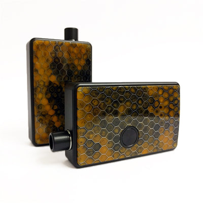 SXK - SXK Billet Box V4 Honeycomb Doors - Brown/Orange
