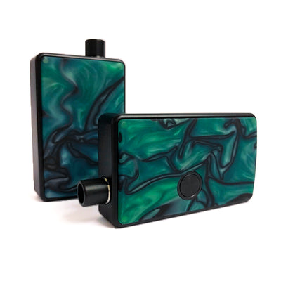 SXK - SXK Billet Box V4 Resin Swirl Doors - Green/Black