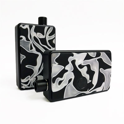 SXK - SXK Billet Box V4 Resin Swirl Doors - White/Black