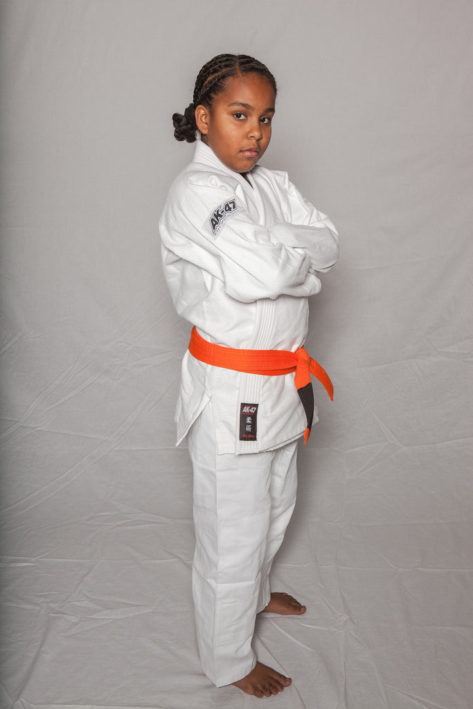 AK-47 Kids Jiu Jitsu Uniform White