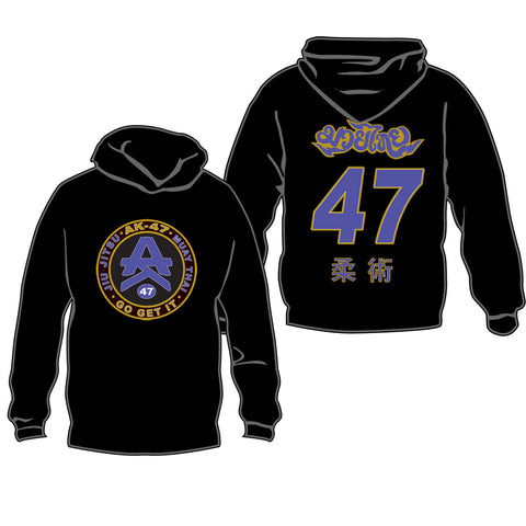 Team 47 Hoodie Purple & Black