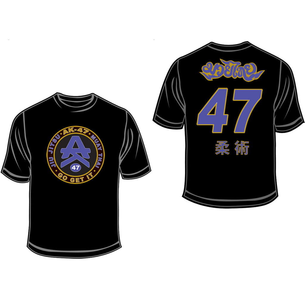 Team 47 T-Shirt Purple & Black