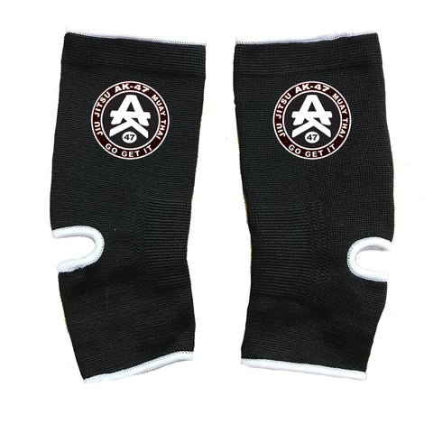AK-47 MMA Ankle Supports Black & White