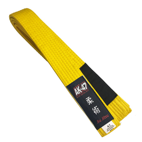 AK-47 MMA yellow Jiu Jitsu belt