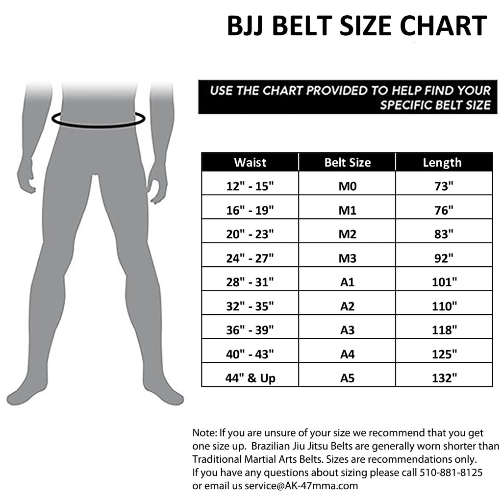 AK-47 Kids Jiu Jitsu Belt Gray w Black Stripe