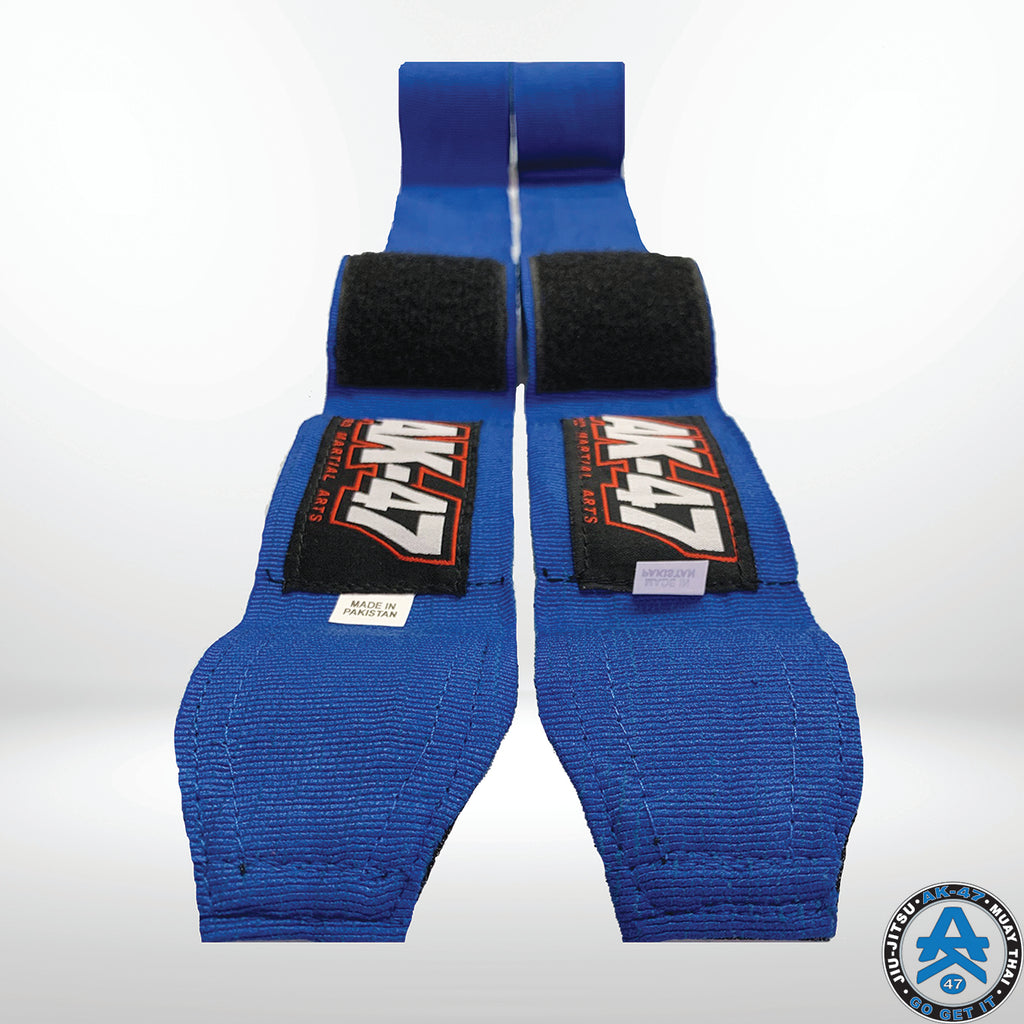 PRO 180in Boxing Hand Wraps Blue