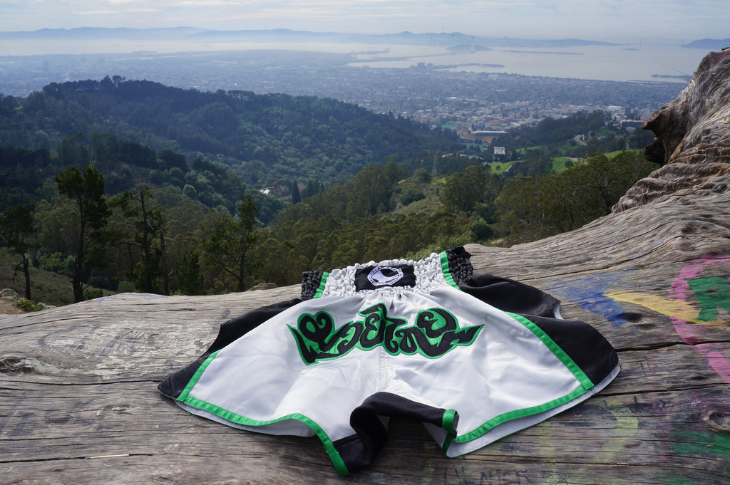 AK-47 Muay Thai Shorts Green & Gray