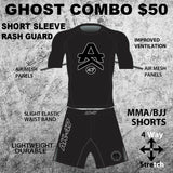 Ghost Rash Guard & Short Combo (Short Sleeve)