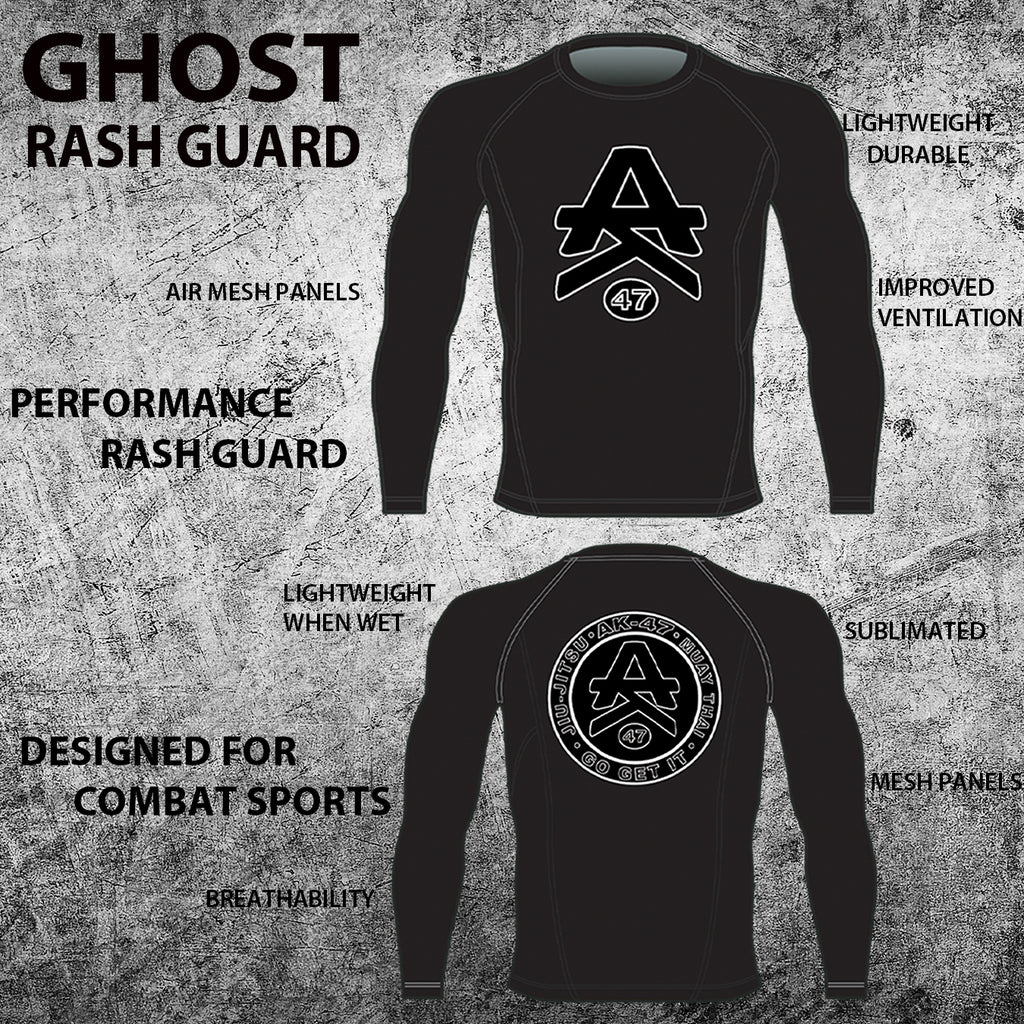 Ghost Rash Guard & Short Combo (Long Sleeve)