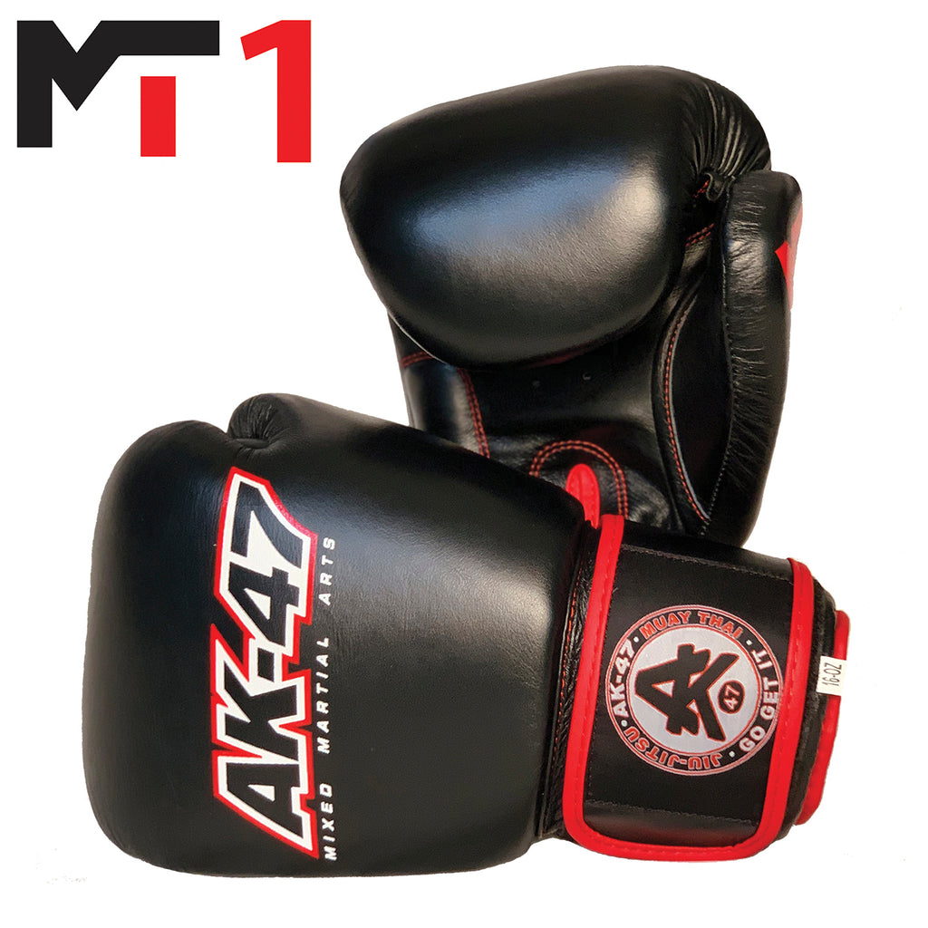 MT1 Boxing Gloves Black & Red