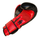 Matrix Boxing Gloves Leather Black & Red