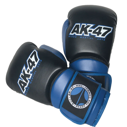 Matrix Boxing Gloves Vinyl Black & Blue
