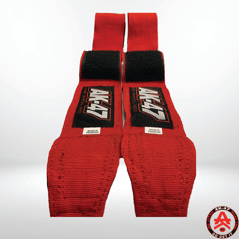 PRO 180in Boxing Hand Wraps Red