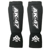 Cloth Shin Instep w Velcro Strap Black