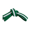 Green Belt with White Stripe