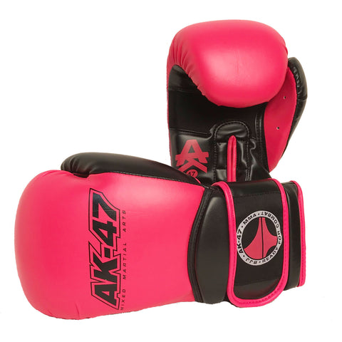 Matrix Boxing Gloves Vinyl Black and HOT Pink